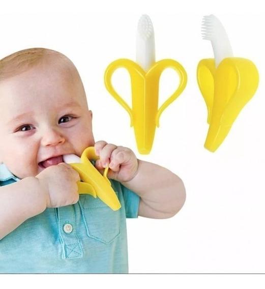 Banana Bananinha Mordedor Escova Crianças Bebês