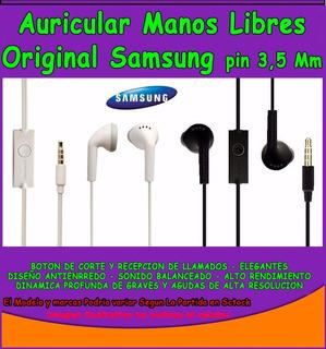 Auriculares Manos Libres 3.5 Mm Samsung A20 A30 - A50