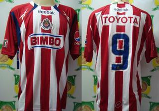 Camisa Futebol Chivas Mexico Reebok Bimbo Toyota # 9
