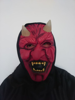 Máscara Látex Diablo Halloween