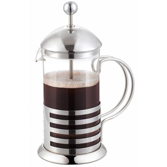 Cafetera Manual Francesa Con Embolo De Acero Vidrio 600ml