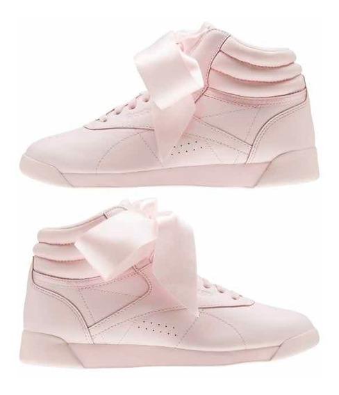 Tênis Reebok Laço Rosa Modelo Feminino Novo