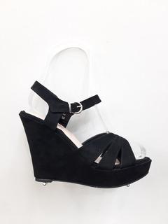 Sandalias Cruzadas Altas Negras Moda 2019 Tendencia
