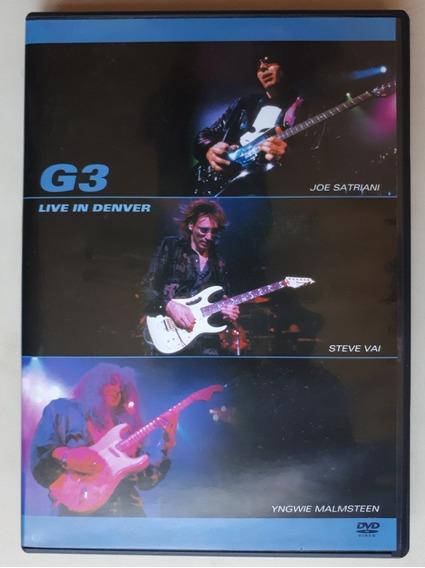 Dvd G3 Live In Denver - Satriani Steve Vai Yngwie Original