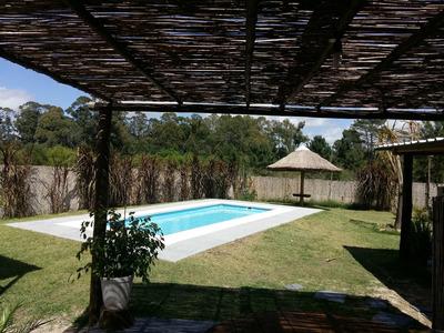 Casa Con Piscina Exclusiva 7x3 ,climatiza C. Paneles Solares