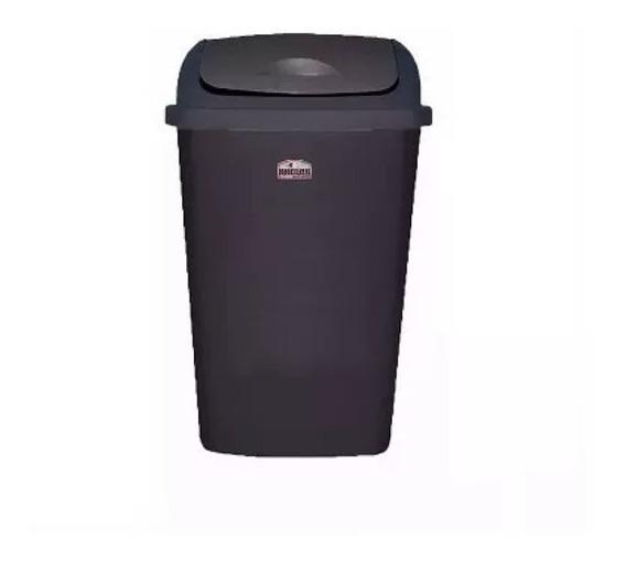 Cesto De Basura Negro Vaiven 12 Litros Colombraro Reciclar