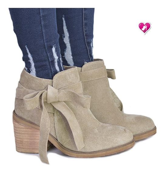 Botita Botineta Texana Cuero Modelo Montana De Shoes Bayres