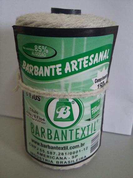Barbante Algodão 8 Fios 200g Barbantextil - 3 Rolos De 150m