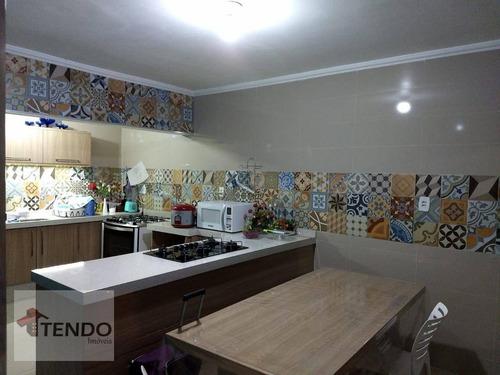 Imagem 1 de 15 de Imob03 - Casa Com 2 Dormitórios À Venda, 100 M² Por R$ 373.000 - Vila Emílio - Mauá/sp - Ca0782