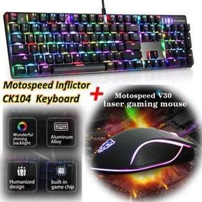 Kit Ck104 Swicht Azul/red Otemu E Mouse Gamer V30 Motospeed