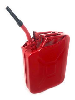Tanque Bidon 20l Gasolina Metalico Rojo Sm0924-rd