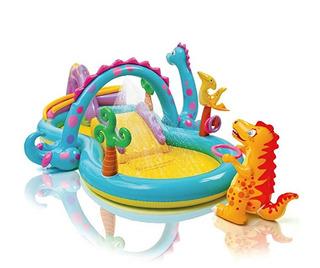 Alberca Inflable Infantil Dinoland Play Center Intex
