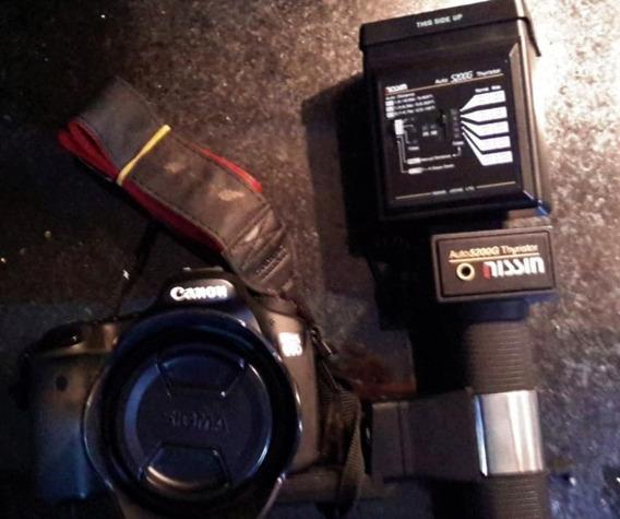 Combo Câmera Canon 60d + Lente Sigma 28-300mm + Flash Nissin