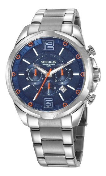 Relógio Seculus Masculino Prateado 28957g0svna2 Cronógrafo