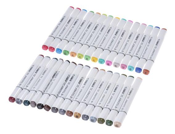 Kit De Marcadores De Punta Doble Para Dibujo, 30 Colores