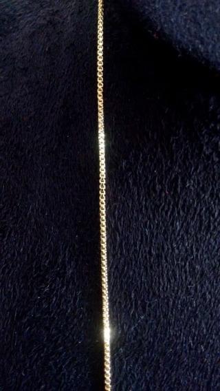 Corrente Colar Veneziana - 60 Cm - Folheada Ouro 18 K