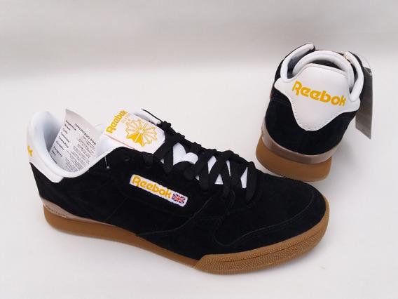 Tênis Reebok Classic Preto Gum Phase 1 Skate Clássíco