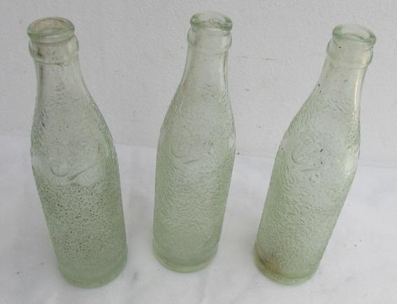 Antiguas Botellas Gaseosa Bilz, Años 50-60, Relieve #l