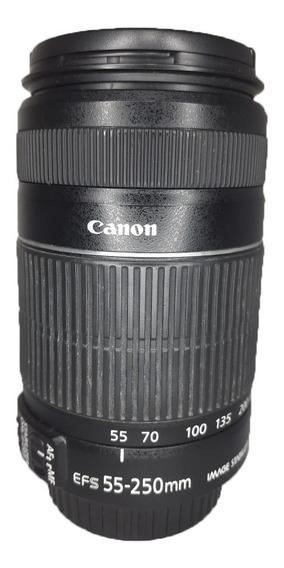 Lente Canon Zoom Ef-s 55-250mm 1:4-5.6 Is Ii Seminova