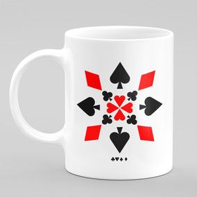 Caneca Baralho Cartas Poker Naipes Jogos Cassino 06