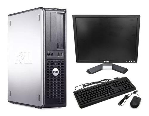Cpu Completa Dell Core 2 Duo E8400 8gb Ssd120 + Monitor 17