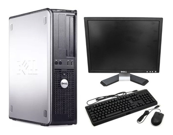 Cpu Completa Dell Core 2 Duo E8400 4gb Ssd120 + Monitor 17