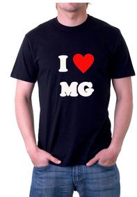 Camiseta Estados Brasileiros Minas Gerais - 100% Algodão