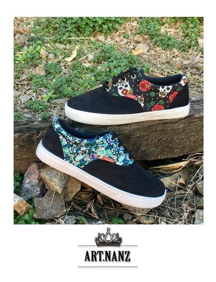 Zapatillas Clásicas De Lona Combinada (art:vans) Stil Pri-ve