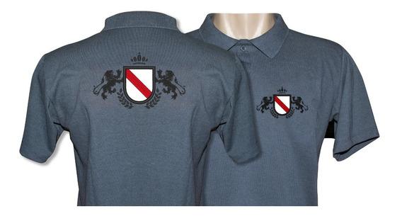 10 Camisa Polo Uniforme Bordado Personalizada Frente E Costa
