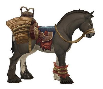 Wow Montaria Mula De Carga Aterrorizada /terrified Pack Mule