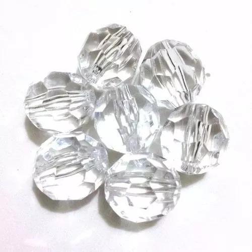 Pedrarias Cristal Facetado Acrílico 500gr - 7 Pacotes