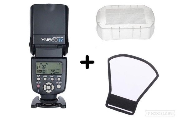 Flash Yongnuo Yn 560 Iv + Difusor + Rebatedor