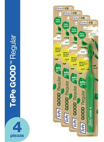 Cepillo Dental Ecológico Tepe Good - Regular Soft 4 Piezas