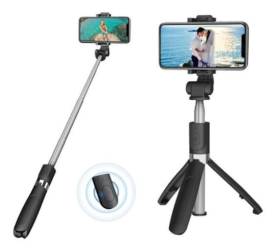 Trípode Y Palo De Selfie Bluetooth Con Giro De 360º