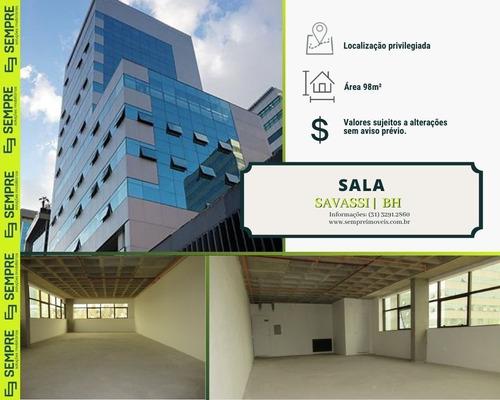 Imagem 1 de 18 de Sala À Venda, 98 M² E 02 Vagas - Savassi - Belo Horizonte/mg - Sa0098