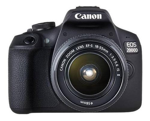 Imagen 1 de 3 de Canon EOS 2000D DSLR color  negro