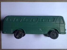 Miniatura Antiga Ônibus Plástico Bolha Joreal - 22 Cm