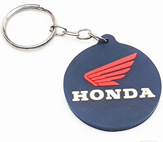 Chaveiro Honda Borracha Circulo Moto Cg Biz Fan Pop Titan