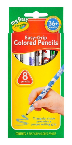 Imagen 1 de 1 de Crayola 8 Lapices Colores My First 36 Meses Escolares Edu