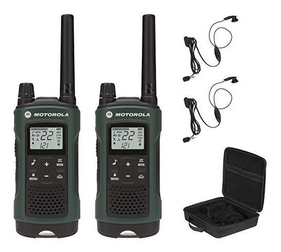 Radio Motorola T465 Pack Maletín + Audífonos 56km Nuevos ! !