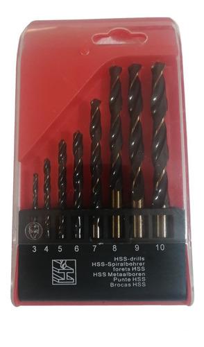 Broca Para Metal Hss 6542 M2 Set 8 Pzas 3 A 10