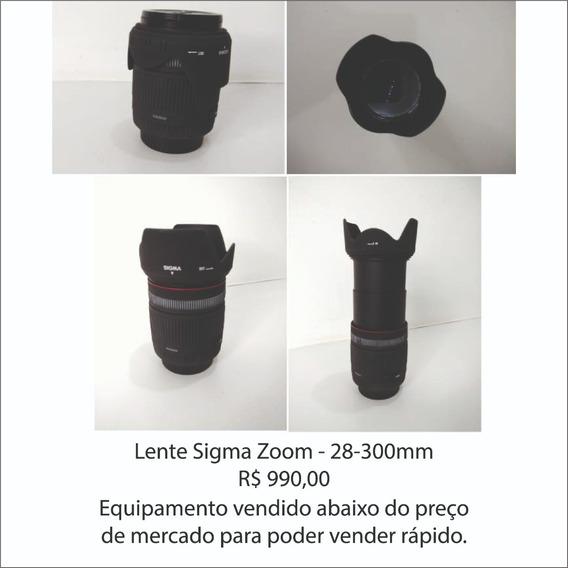 Lente Sigma Zoom 28-300 (usada)