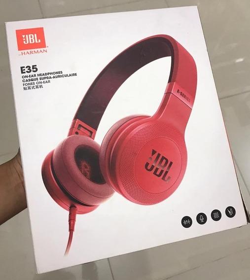 Fone De Ouvido Jbl E35 - Novo E Original - Vermelho