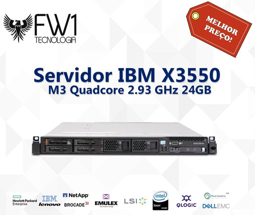 Servidor Ibm X3550 M3 Quadcore 2.93 Ghz 24gb 1x 500gb + Nfe
