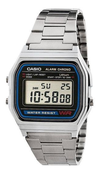 Relógio Casio Retro Vintage Unissex A 158 Original Na Caixa