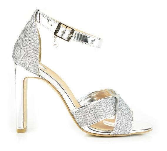 Sandalia Tacón Para Mujer Lob Footwear 471-9656 Plateado Nuevo Oi19