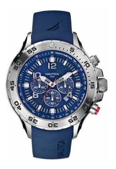 Relógio Náutica Cronógrafo Azul
