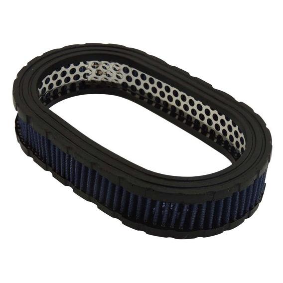 Filtro Oval Esportivo Elemento Filtrante Marmita 40mm Azul