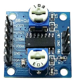 Módulo Amplificador De Áudio Som Pam8406 5w + 5w Com Ajuste