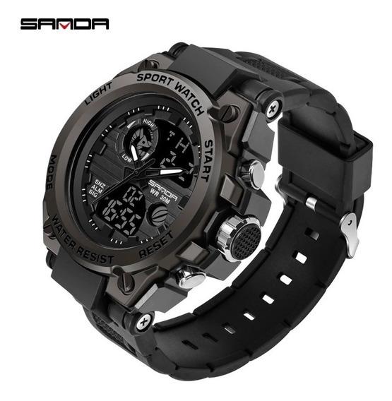 Promoção: Novo Relógio Sanda Luxo Esportivo Modelo 739